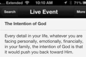 Intention of God