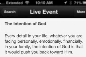 Intention of God